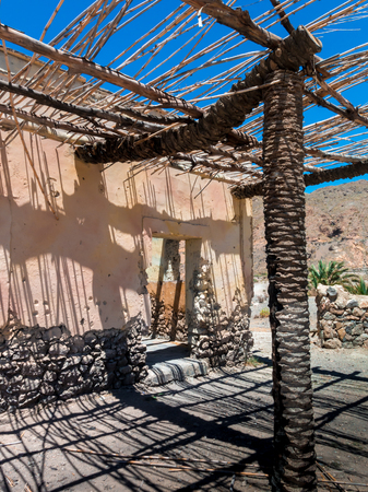 Construction of typical housing in Eritrea . Shepherds house