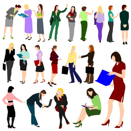 illustrations of business women at work Illustration