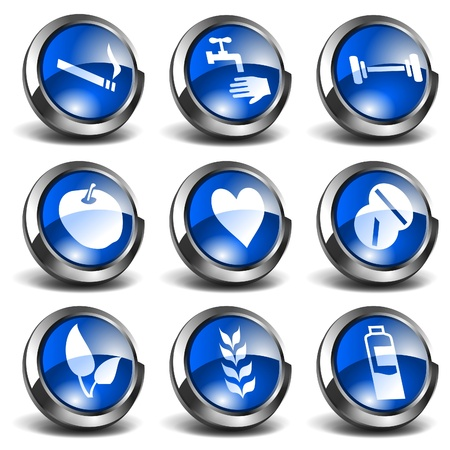 3D Health and Medical Icons Set 03 Stock Vector - 9604042