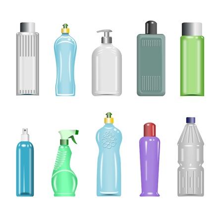spring cleaning: Plastic Bottles Set 5