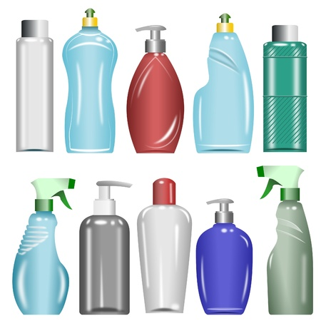 Plastic Bottles Set 6 Illustration