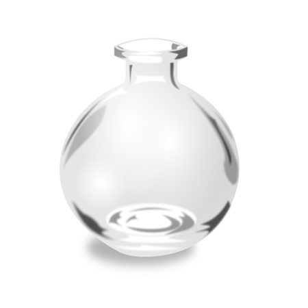 glass containers: Round Glass Jar