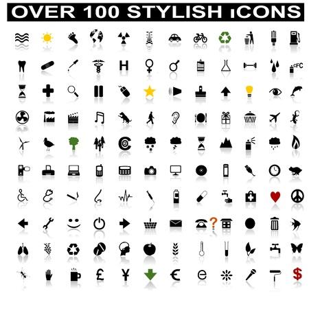 icono inicio: M�s de 100 iconos con estilo con reflexiones de sombra