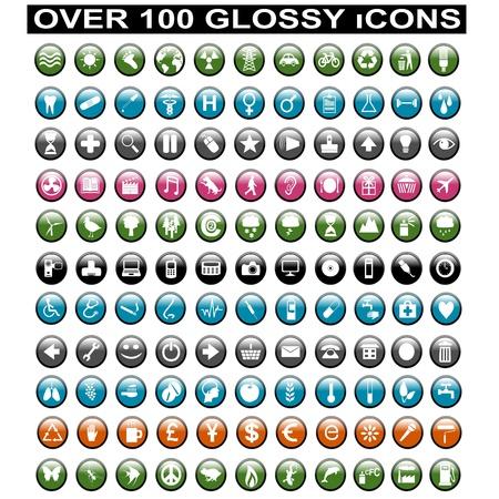 icono inicio: M�s de 100 iconos brillantes Vectores