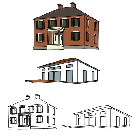 old buildings: House Sketch Set 01