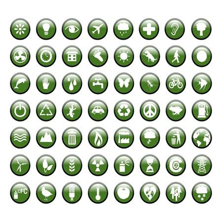 Environmental Green Icons Vector