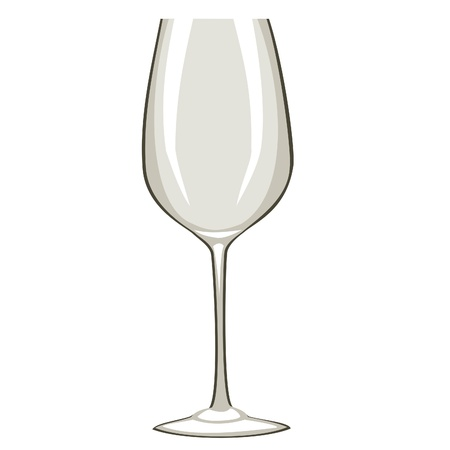 hedonistic: Empty Wine Glass Illustration