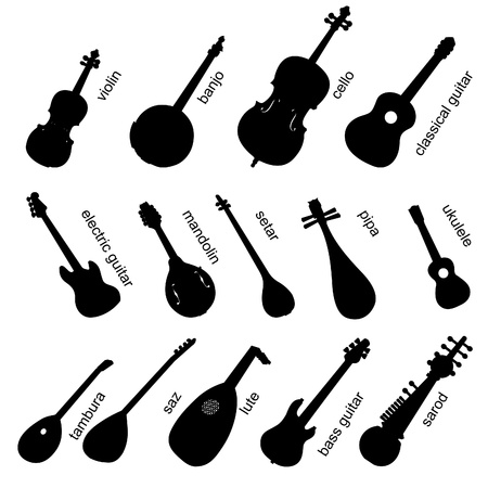 lute: Musical Instruments Set No.1.