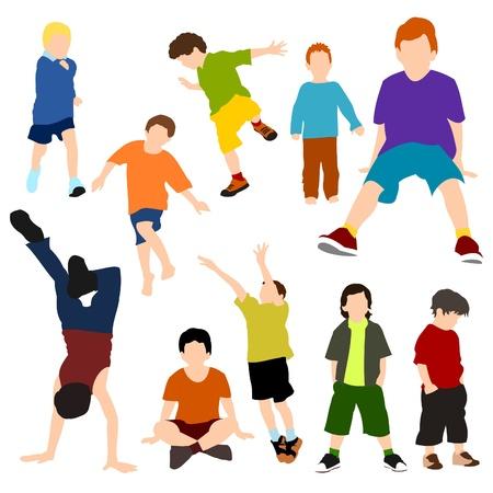 legged: Set of Children - Boys Illustration