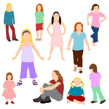 legged: Set of Children - Girls
