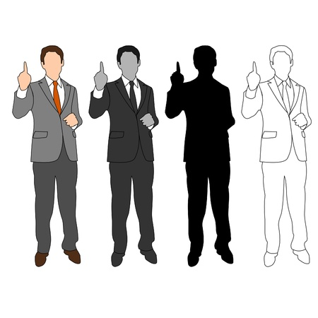 Business Man Style Set 04 Vector
