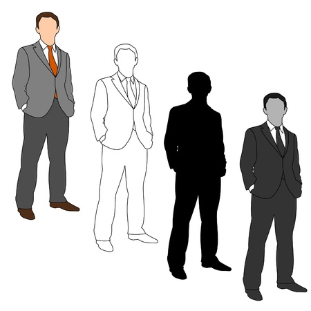 Business Man Style Set 05 Stock Vector - 9721390