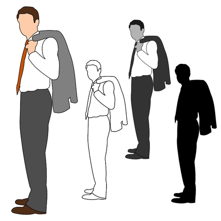waiting in line: Business Man Style Set 09