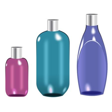 shampoo bottle: Plastic Bottles Set 3