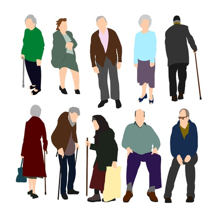 pobres: Ancianos establecer n�mero 1.