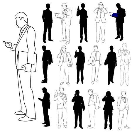 man on cell phone: Grupo de hombres de negocios conjunto 03