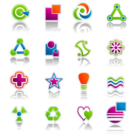 Abstract Icon & Symbols Set 01 Stock Vector - 9805820