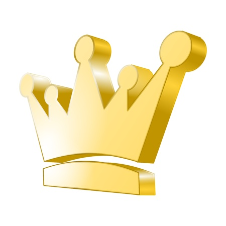 crown logo: 3d icon - Golden Crown
