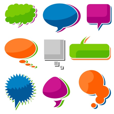 3d Speech Bubbles Illustration