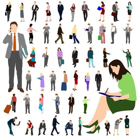 personas caminando: Personas - empresas - gran Set 01 Vectores