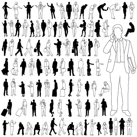 smart phone woman: People - Business - Large Set 02 Illustration