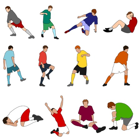 People - Sport - Footballers 01 Illustration
