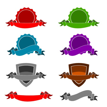 Icons - Certificates & ribbons Illustration