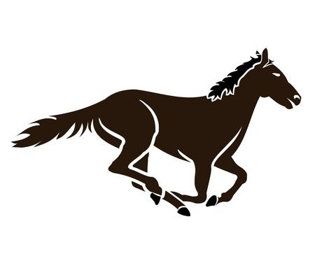 corse di cavalli: Horse Racing Icon Vettoriali