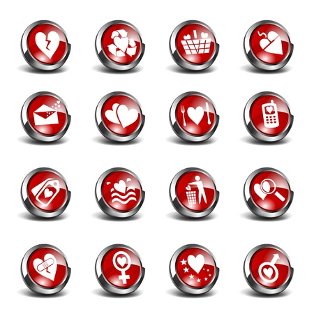 3D Icons Valentines Day Set  Stock Vector - 12352217