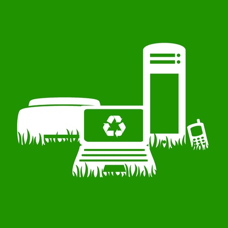 Green Electronics recycling Illustration