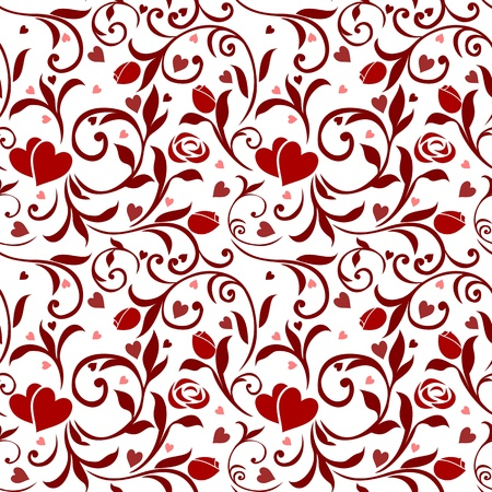 Seamless Valentines Pattern 01 Stock Vector - 12352226