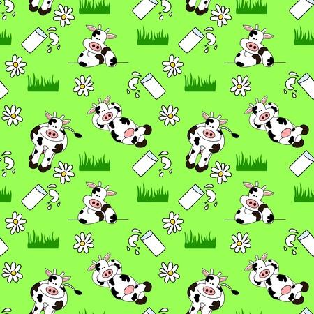 maliziosa: Cow Seamless Background
