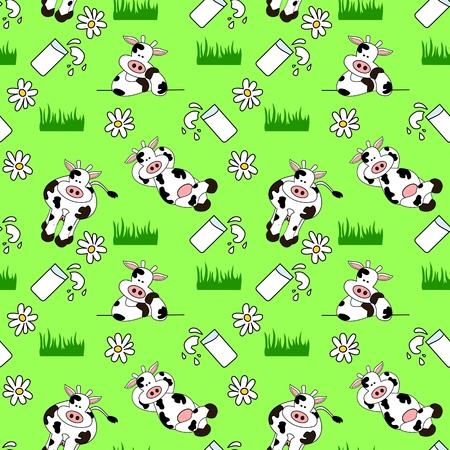 Seamless Cow Background Vector