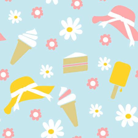 Seamless Spring Summer Background Vector