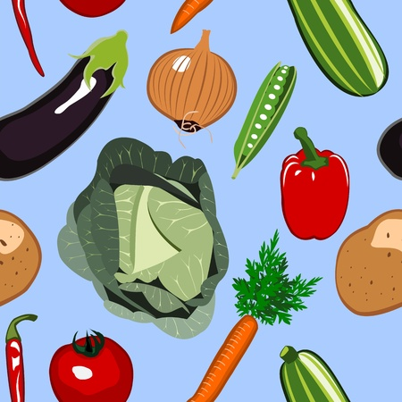 courgette: Seamless Vegetables Background