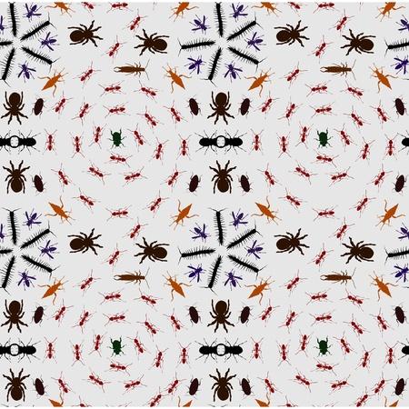 crawlies: Seamless Creepy Crawlies Background