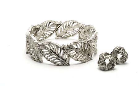 earrings: Silver Bracelet & Earrings