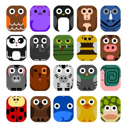 no1: Cute Animal Icon Set No.1.