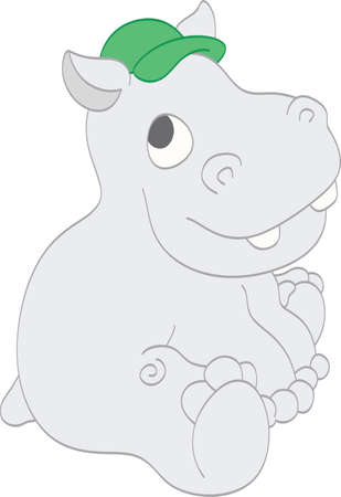 Smiling Hippo Banque d'images - 14813685
