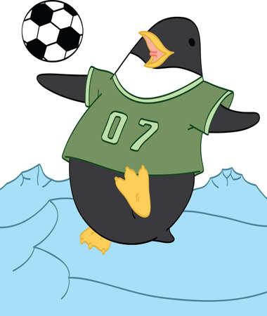 Penguin playing Soccer