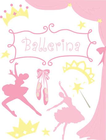 ballerina silhouette: Ballerina