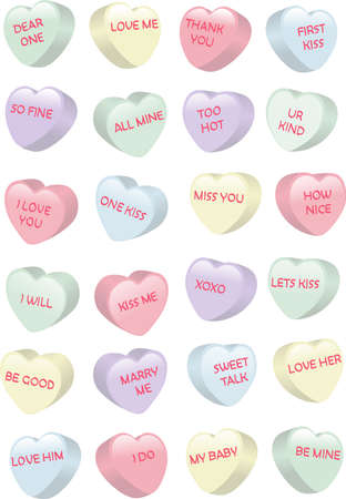 Candy Hearts Stock Illustratie