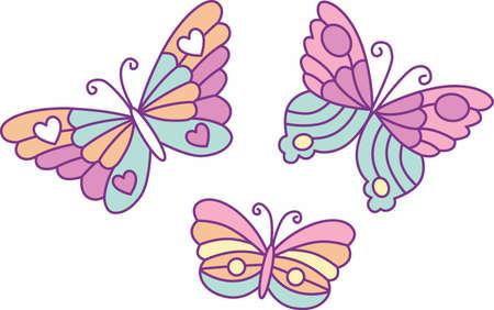 Leuke Vlinders Stock Illustratie