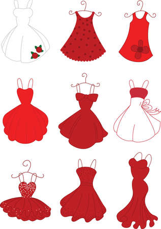 Red Dresses Illustration