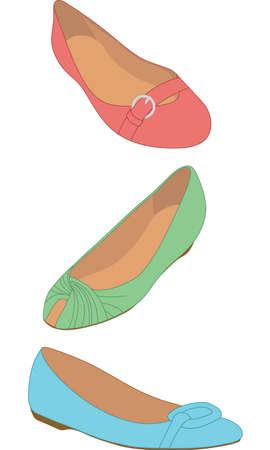 peep toe: Fun Flats