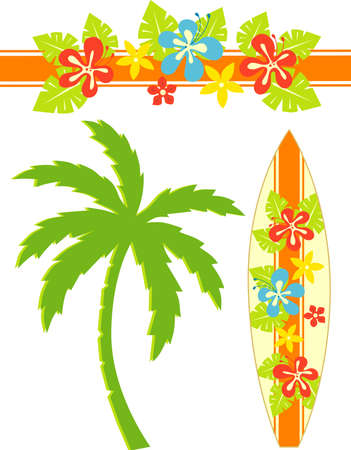 Hawaii Surf Illustration