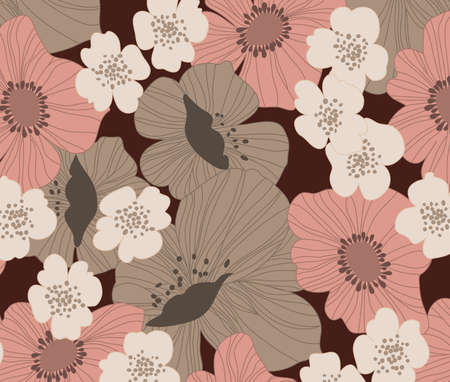 Pink and Brown Flowers