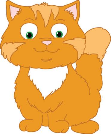 Orange Kitten Illustration