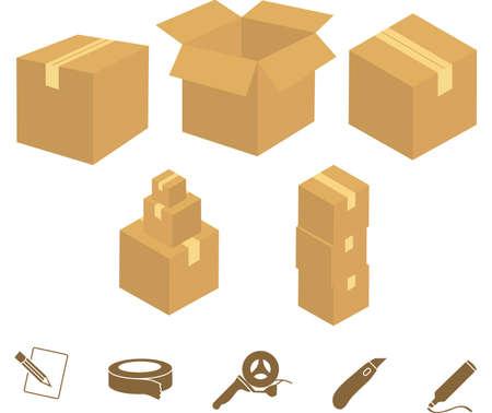 Boîtes de déménagement Banque d'images - 16512706