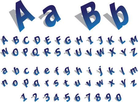 Paper Alphabet Illustration